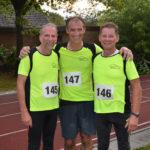 Drei Teilnehmer aus Kirchtimke in der AK M50 + M 55 von links Jürgen Finke, Heiko Lühmann und Hans Werner Rein.